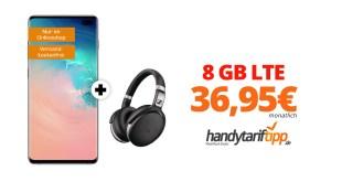 Galaxy S10+ & Sennheiser HD mit 8 GB LTE eff. 36,95€