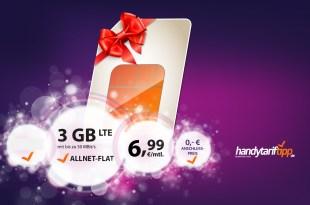 3 GB LTE mit Allnet nur 6,99€ mtl.
