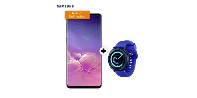 Galaxy S10 & Gear Sport Smartwatch mit 1,75GB LTE im Telekom Netz nur 29,95€
