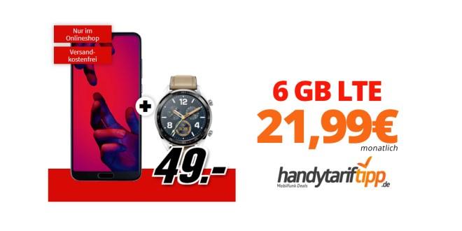 Huawei P20 Pro & Watch GT mit 6 GB LTE nur 21,99€