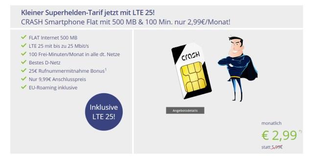 Telekom Netz: 500 MB & 100 Min. nur 2,99€