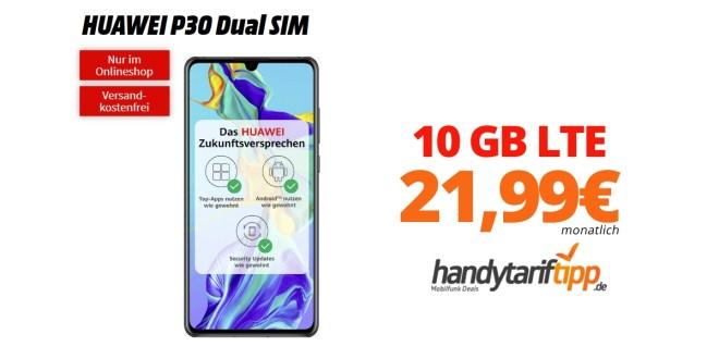 HUAWEI P30 Dual SIM mit 10GB LTE nur 21,99€