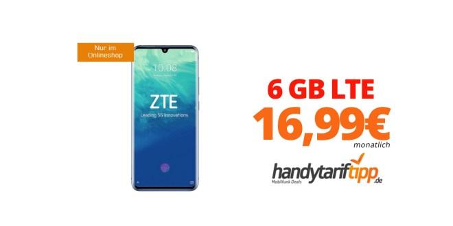 ZTE AXON 10 Pro mit 6 GB LTE nur 16,99€