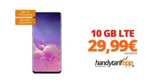 SAMSUNG Galaxy S10 mit 10 GB LTE nur 29,99€