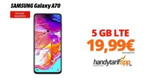 Galaxy A70 mit 5GB LTE nur 19,99€
