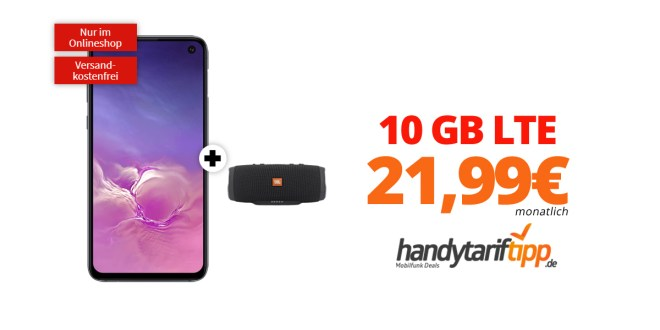 Galaxy S10e & JBL Charge 3 mit 10 GB LTE nur 21,99€