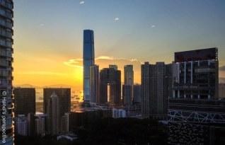 Sunset HongKong ICC Buildinbg