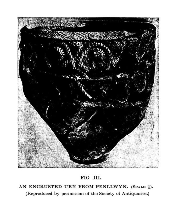 Urn wedi'i wasgaru o Benllwyn