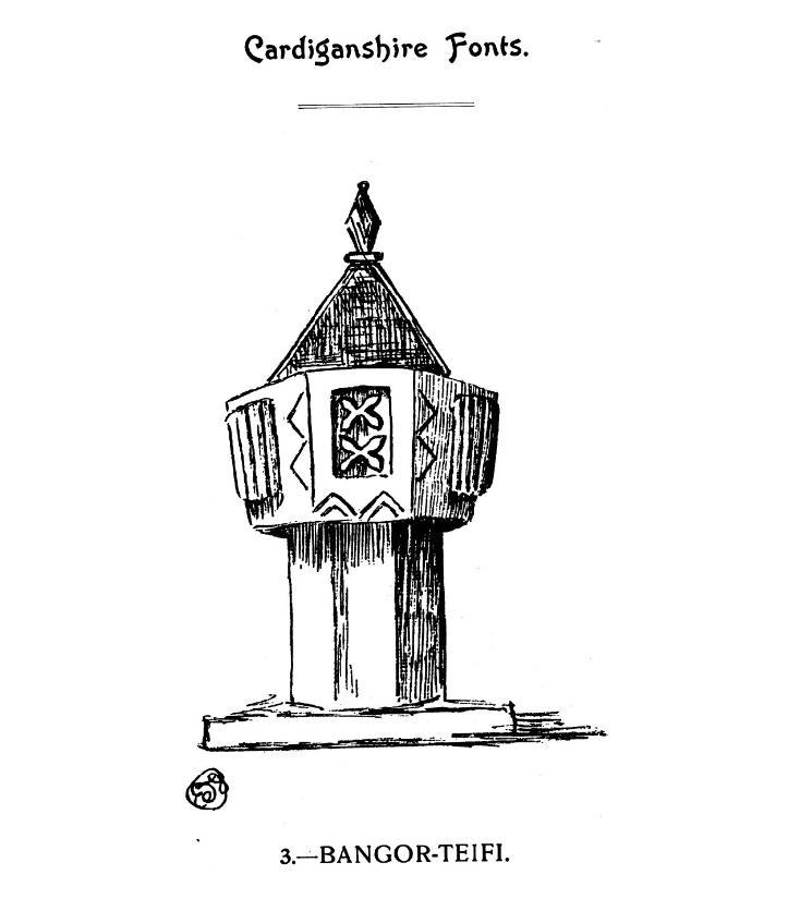Bedyddfeini Sir Aberteifi - Bangor-Teifi