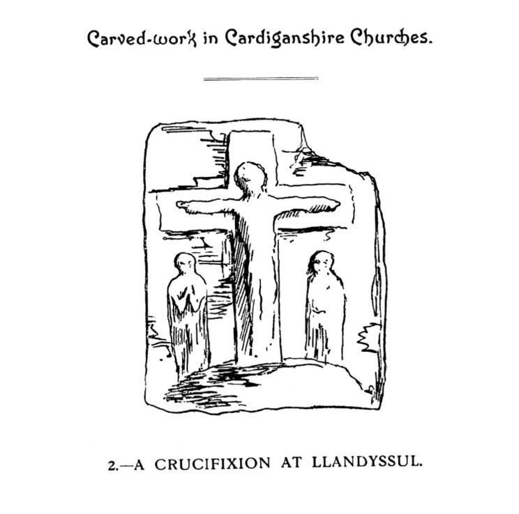 Gwaith cerfiedig yn Eglwysi Sir Aberteifi - Croeshoeliad yn Llandysul