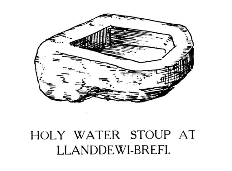 Stoup Water Stoup yn Llanddewi-Brefi