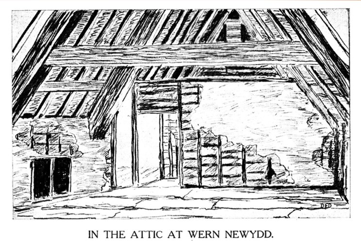 Yn yr Attic yn Wern Newydd, Llanarth, Ceredigion