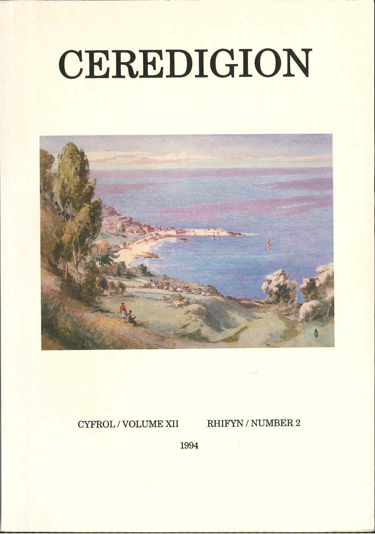 Ceredigion Journal of the Ceredigion Antiquarian Society Vol XII, No 2 1994 - ISBN 0069 2263