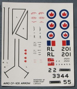"The original kit decals are not of the best quality. Here, the off-center maple leaf in the roundels are clearly visible, as is the poorly registered Canadian Red Ensign seen below the ""RL"" code letters."