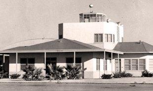 """""""Garner Field Flight Office, 1942"""" is locked Garner Field Flight Office, 1942"""