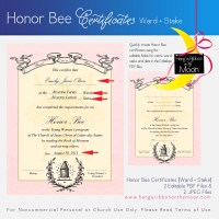 Personal Progress Honor Bee Certificate: Editable/Saveable PDF