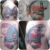 farfalla tattoo traditional