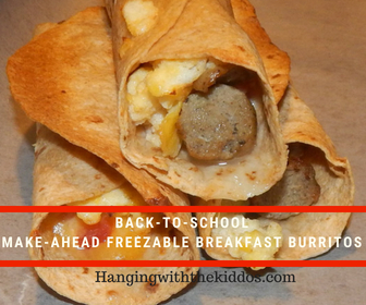 Back-to-School Make-Ahead Freezable Breakfast Burritos