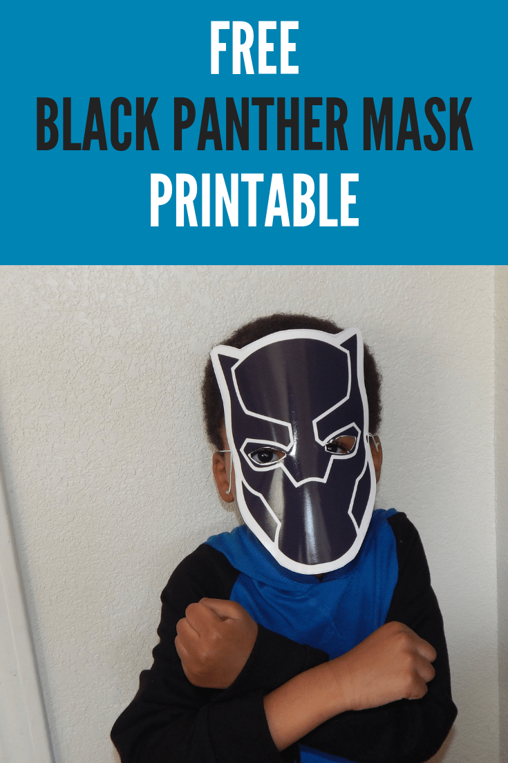 Free Black Panther Mask Printable-See The Movie for Free