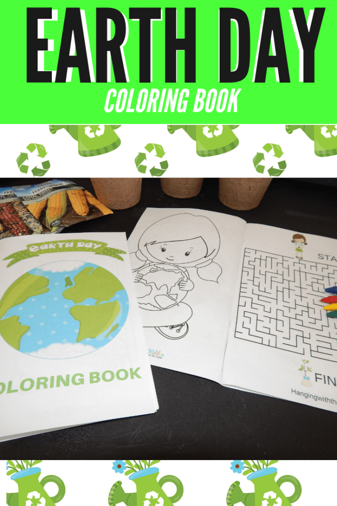 Earth Day Coloring Book Printable