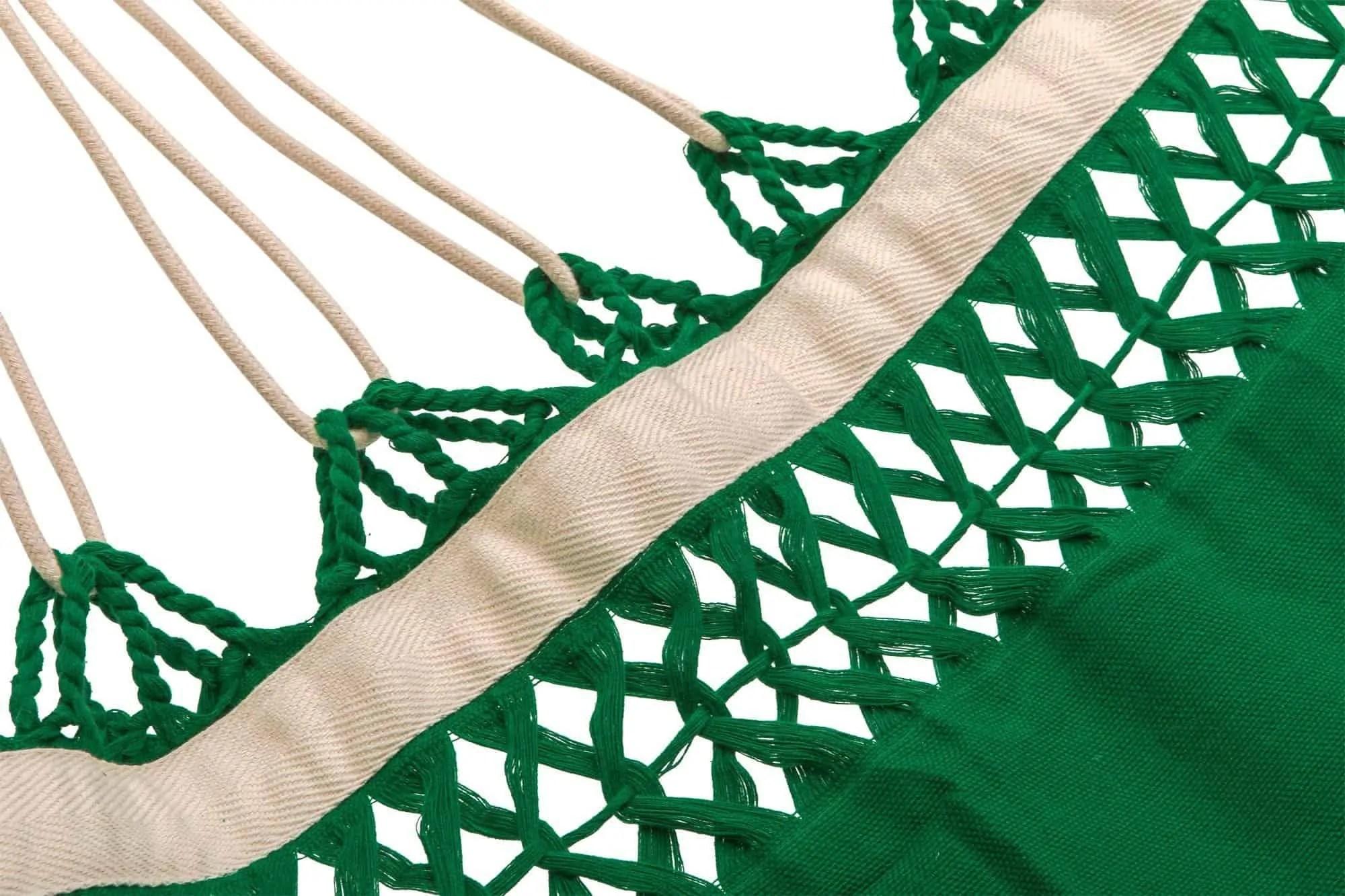 hangmat   effen licht groen   2-persoons   BIO katoen – GOTS   ecomundy pure XL 380
