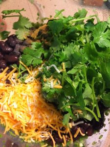 Black Bean Dip - Cilantro Cheese