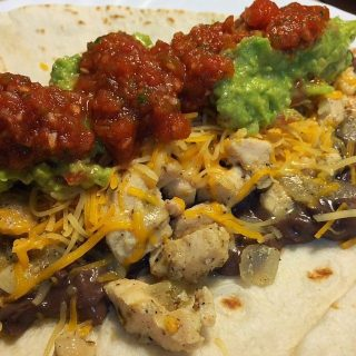 Black Bean Lime Chicken Burritos with Guacamole