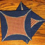 Denim Pattern Potholders