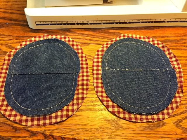 Denim Potholders Liners