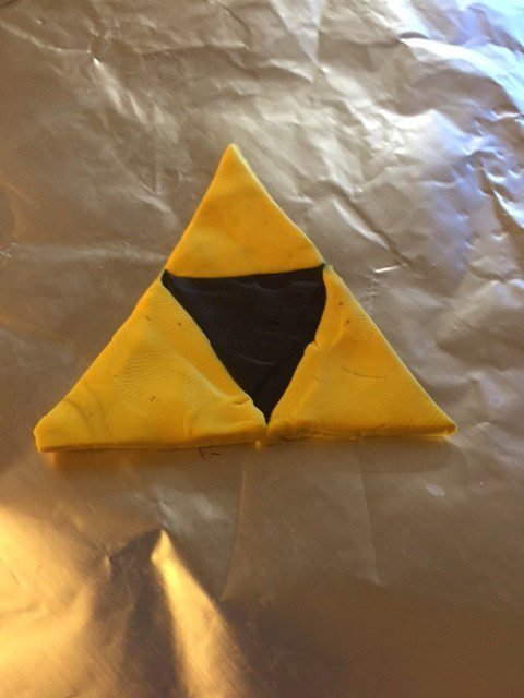 Zelda Triforce Modeling Clay