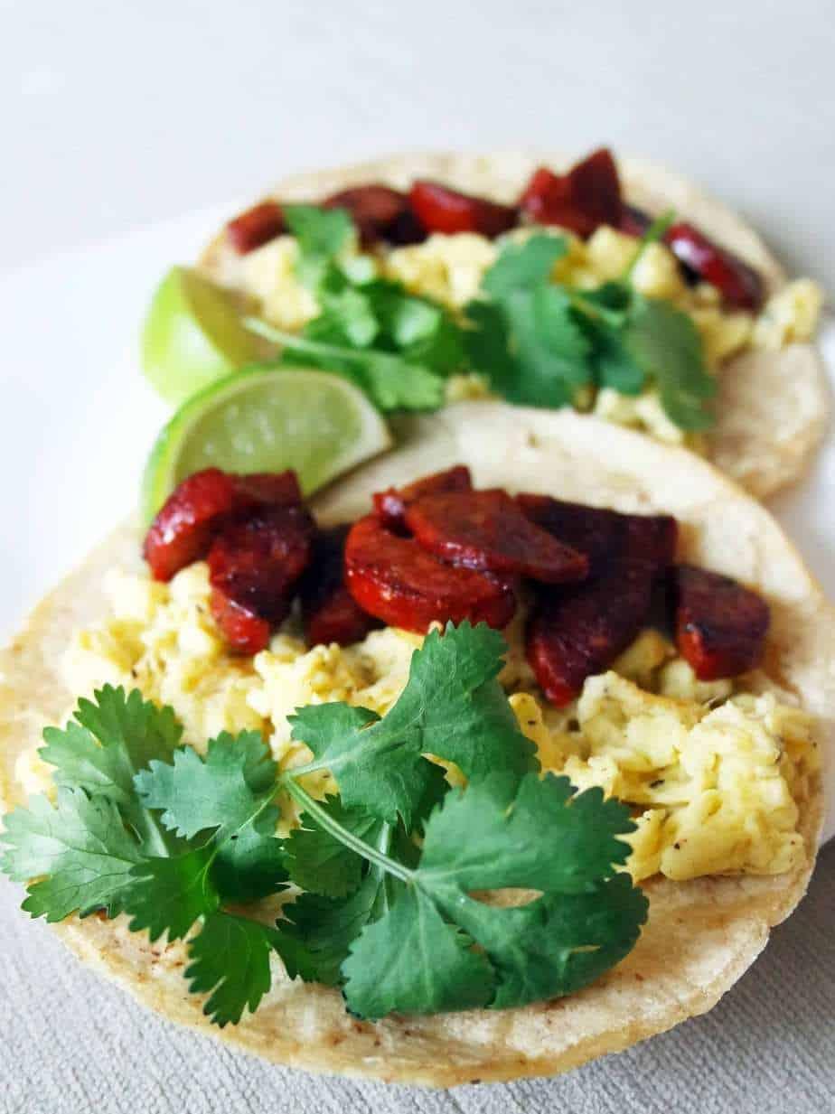 Chorizo and Egg Breakfast Taco
