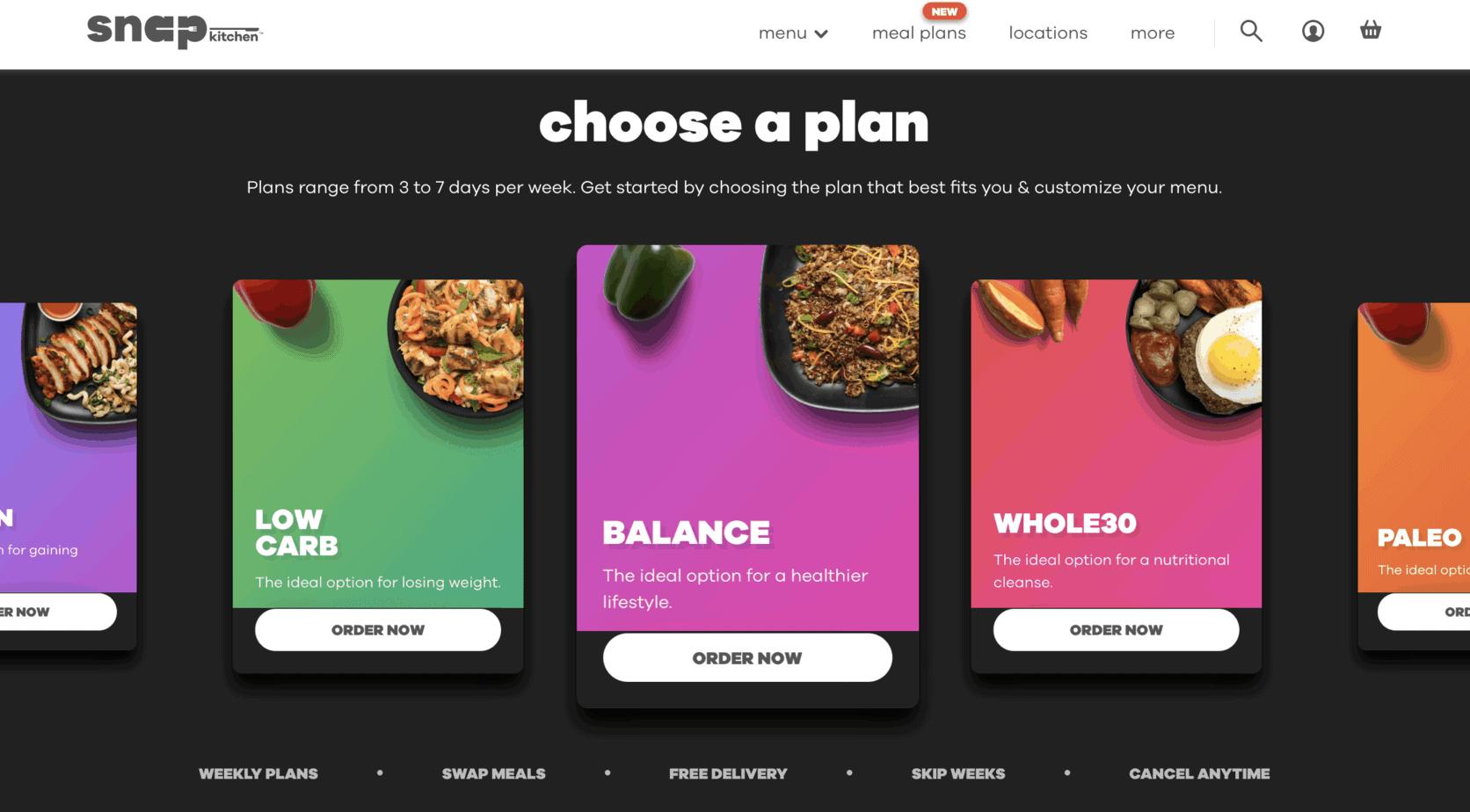 Snap Kitchen Meal Plan