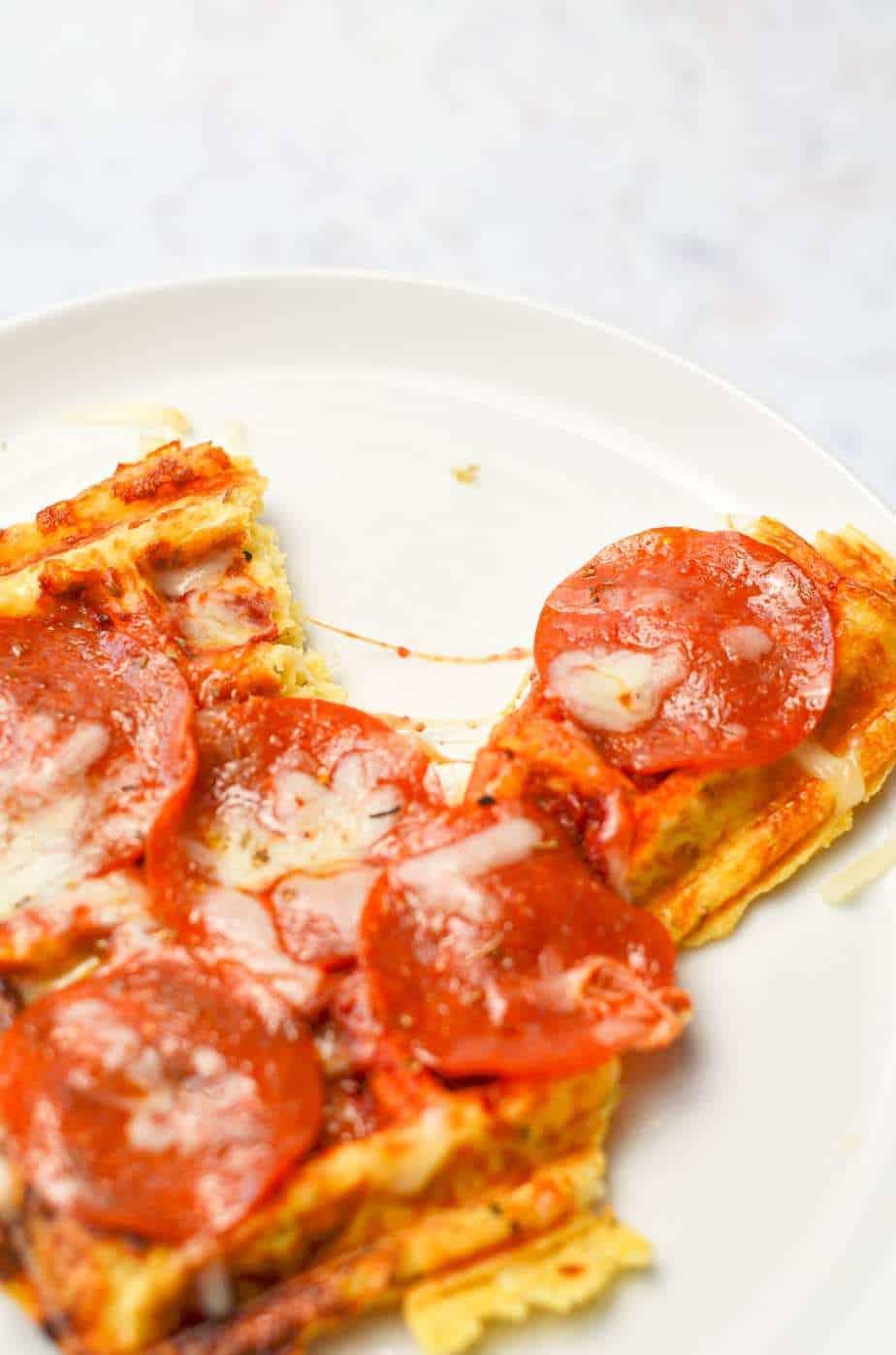 pepperoni pizza chaffle