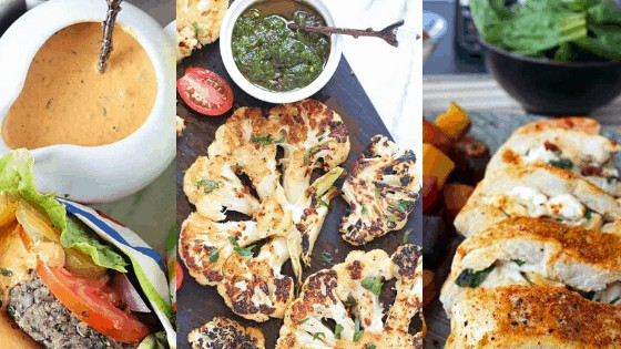 Collage of low carb recipes