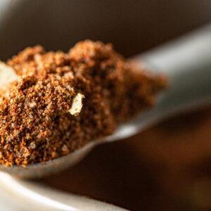 Close up photo of old bay seasoning