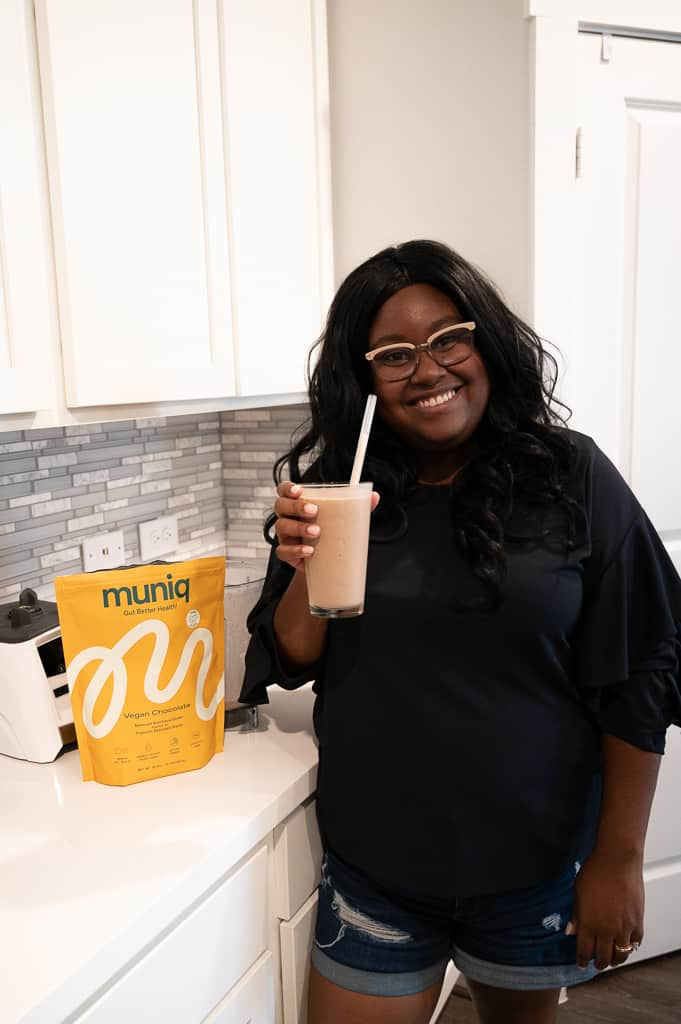 Mila Clarke Buckley smiling with muniq