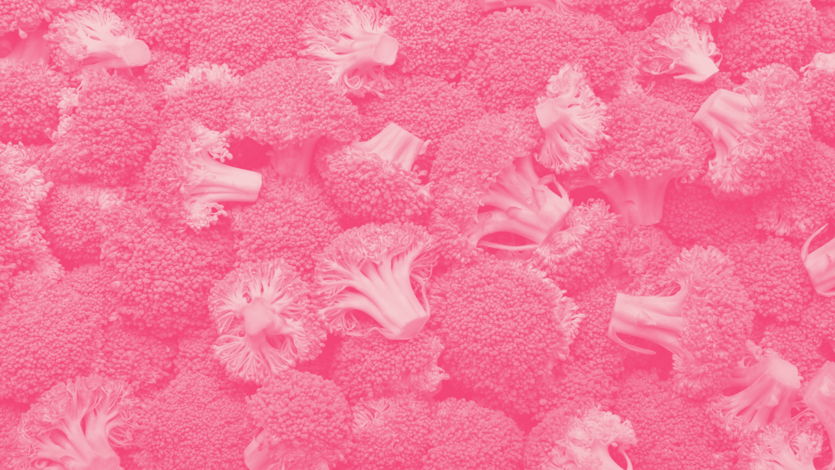 Broccoli in a pink overtone