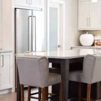 Canva - Rectangular White Marble-top Table With Wooden Base