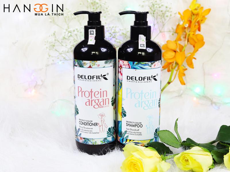 Delofil dầu gội, xả giữ màu và trị gàu cực tốt