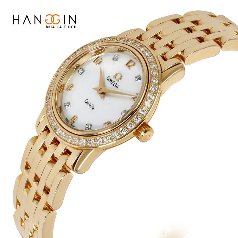 Đồng hồ đeo tay nữ Omega DeVille uy tín 4175,75.00 vàng 18kt