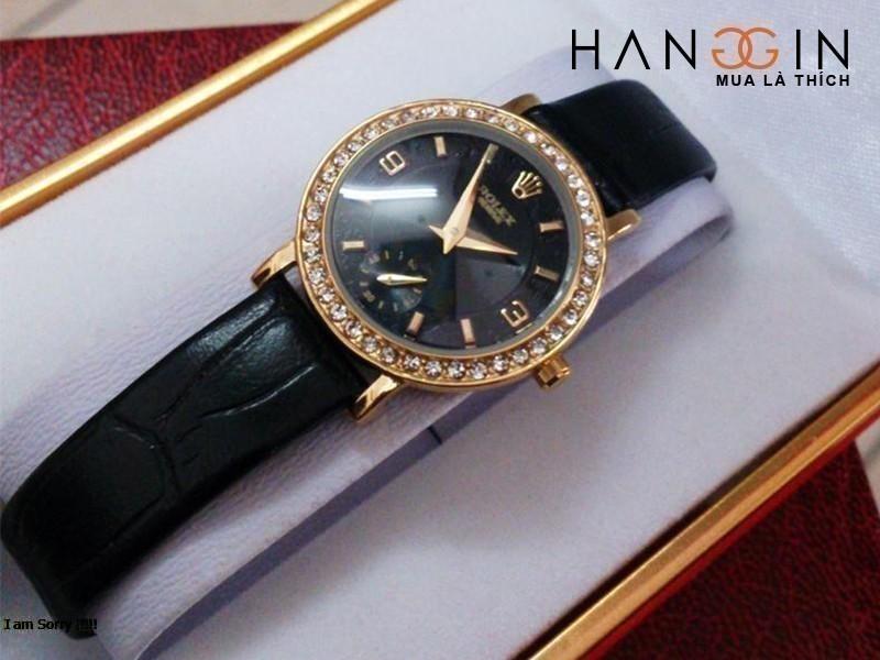 đồng hồ rolex nữ dây da - 1