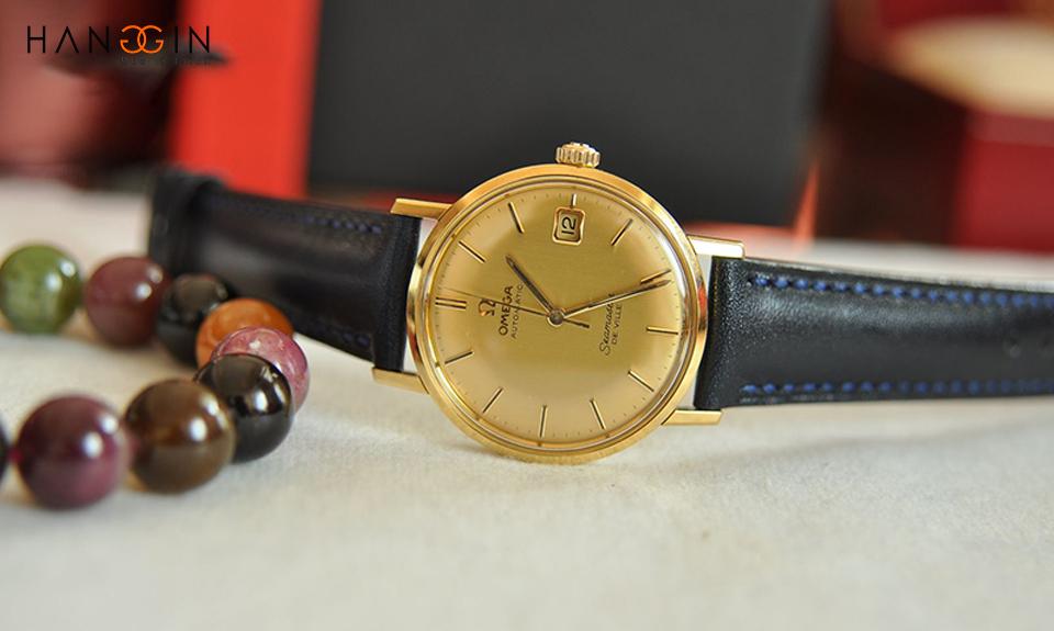 đồng hồ omega cổ vàng đúc