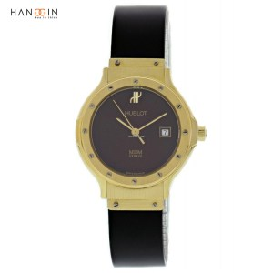 Hublot Ladies MDM Geneve Classic 1280 18K Gold Diamonds Quar