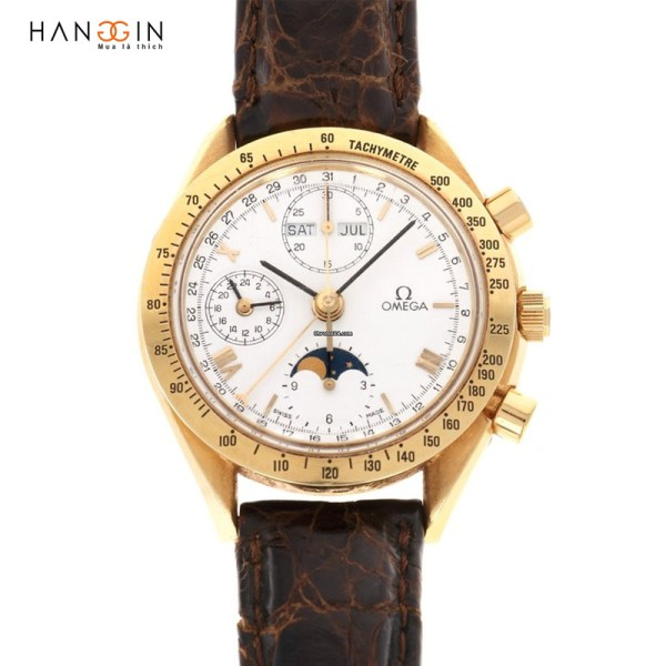 Đồng hồ Omega Yellow Gold Speedmaster Calendar Moonphase Watch-1