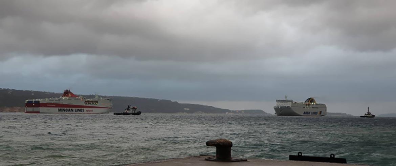 Η «μάχη» των «Ελυρος» - «Festos Palace» στο λιμάνι της Σούδας (εικόνες & βίντεο)