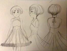 Drew something with frilly dress
