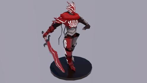 "On ""figurine stand"""