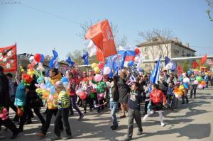Традиция проведения первомайской демонстрации в районе возродилась в 2013 году