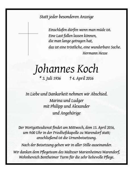 Koch, Johannes