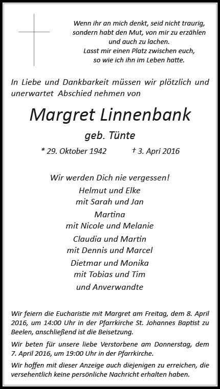 Linnenbank, Margret